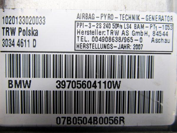 Bolsa de Aire (Airbag) Copiloto BMW E83 No OEM 72127056041-7678