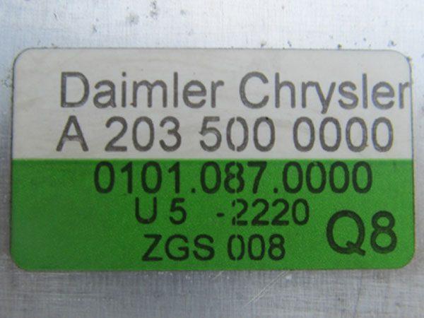 Intercooler Mercedes Benz C 230 OEM NO 2035000000-8215