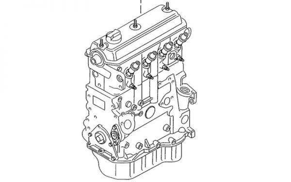 Motor Volkswagen 1.9L TD OEM 038100090DX